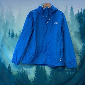 The North Face blue windbreaker rain jacket